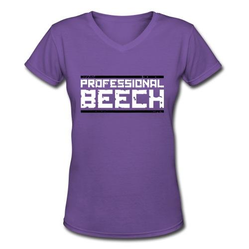 Ladies V-Neck: - Women's V-Neck T-Shirt