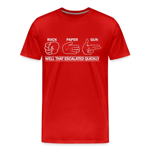 Premium Tee: Rock, Paper, Gun - Men's Premium T-Shirt