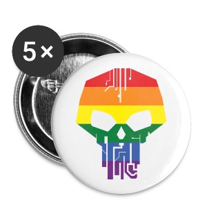 Black Ice Pride Buttons - Small Buttons