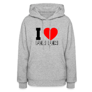 Hoodies ~ Women's Hoodie ~ Ladies Hooded Sweater I Heart Pew Pew