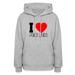 Ladies Hooded Sweater I Heart Pew Pew - Women's Hoodie