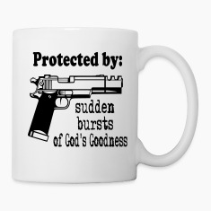 Protected By: Sudden Bursts of God's Goodness Bottles & Mugs