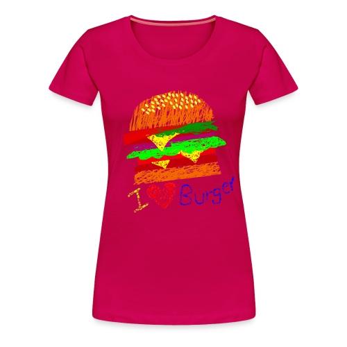 Burger!!! (Women) - Women's Premium T-Shirt