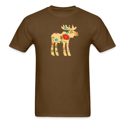 Flower Moose Tee - Men's T-Shirt
