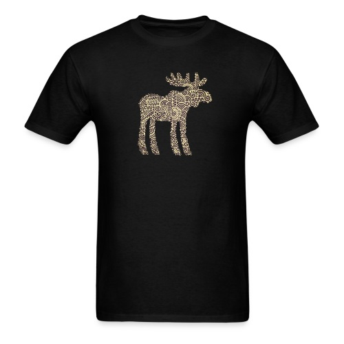 Swirly Moose - Men's T-Shirt
