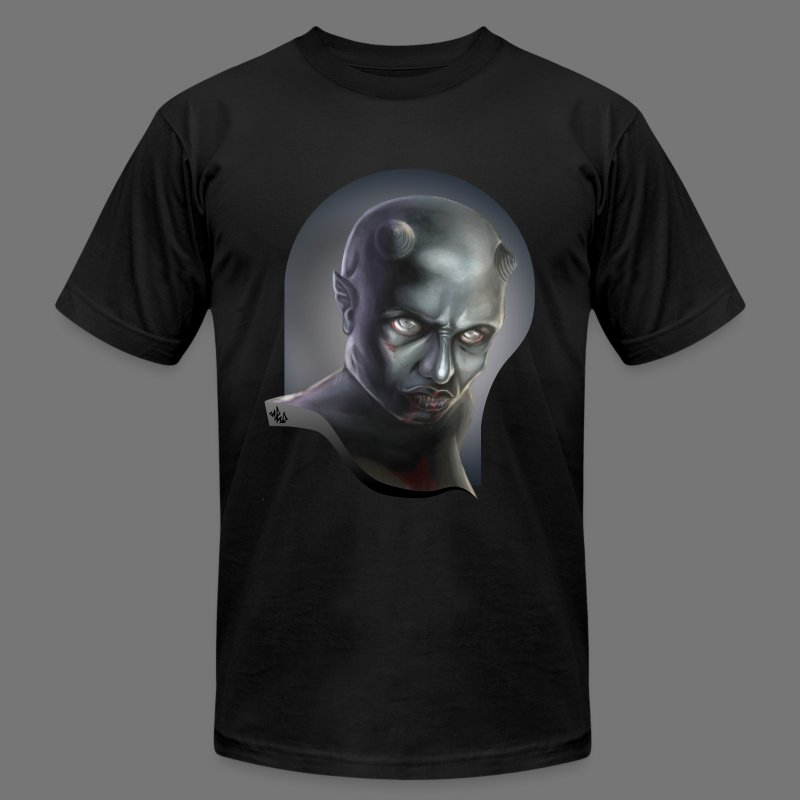 Demonoid Girl Portrait - Men's T-Shirt by American Apparel