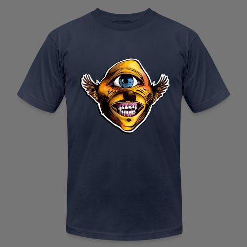 Cycloptic Dog Eagle With A Stache - Men's Fine Jersey T-Shirt