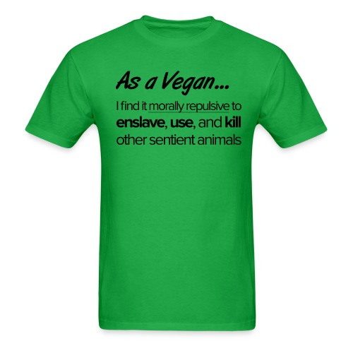 As a Vegan - Men's T-Shirt