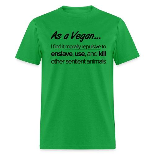 As a Vegan - Men's T-Shirt