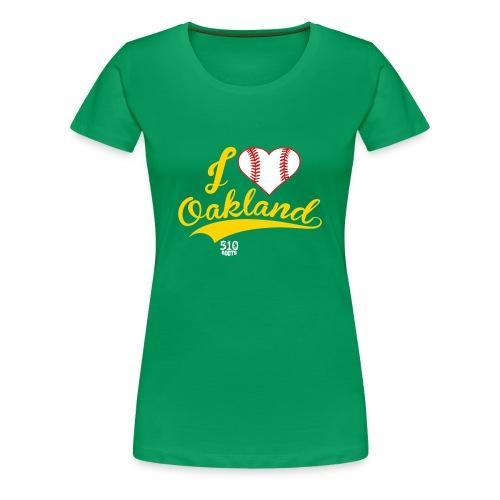 i heart Oakland (women's) - Women's Premium T-Shirt