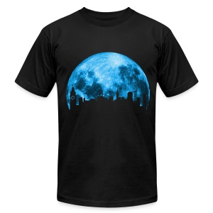 Blue Moon Over San Francisco - Men's T-Shirt by American Apparel