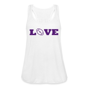 Love football tank PURPLE - Women's Flowy Tank Top by Bella