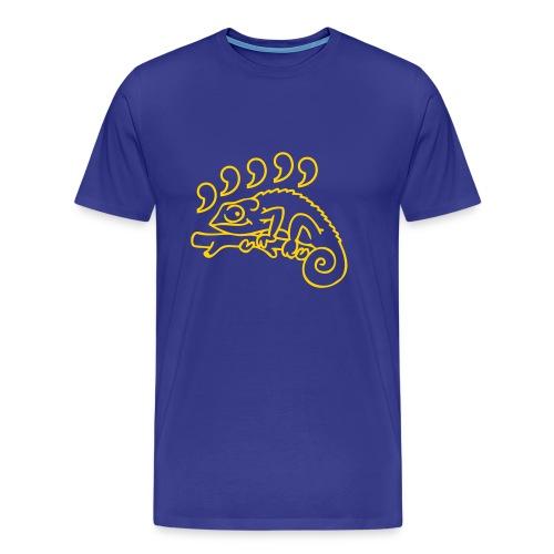Crazy T-shirt Comma Chameleon - Men's Premium T-Shirt