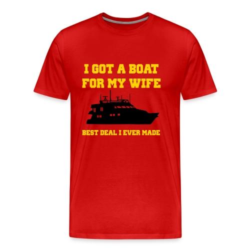 Funny shirt Best deal I ever made - Men's Premium T-Shirt