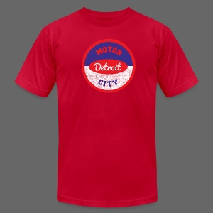 Motor City Vintage Oil Seal - Men's T-Shirt by American Apparel