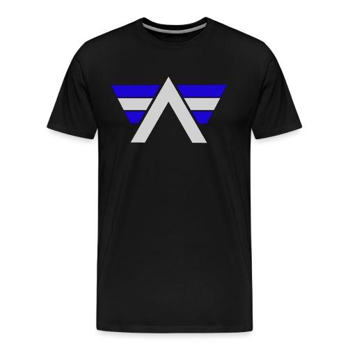 AeRo Logo Blue White - Men's Premium T-Shirt