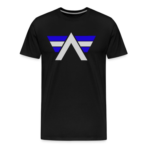 AeRo Logo Blue White - Men's Premium T-Shirt