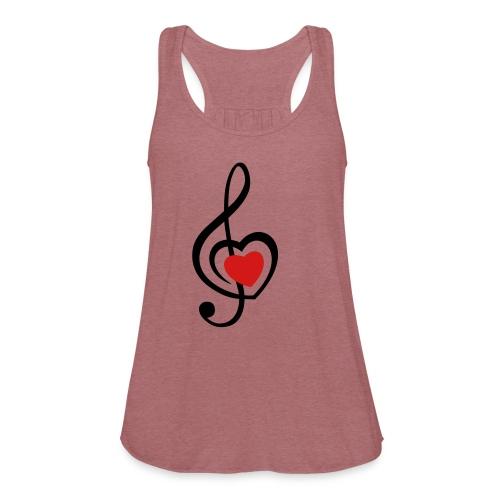 i love music - Women's Flowy Tank Top by Bella