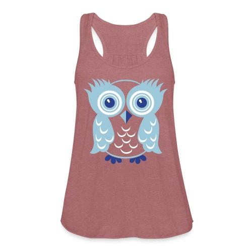 Mint Owl - Women's Flowy Tank Top by Bella