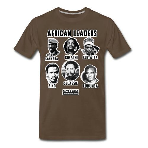 African Leaders - Sankara - Kimathi - Kenyatta - Biko - Selassie - Lumumba - Men's Premium T-Shirt