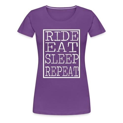 Ride Eat Sleep (Womens) - Women's Premium T-Shirt