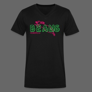 Beans Saginaw Michigan - Men's V-Neck T-Shirt by Canvas
