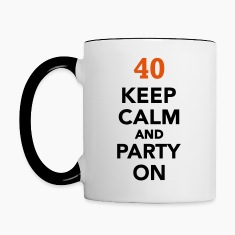 Keep calm 40 Birthday Bottles & Mugs