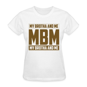 MBM in gold glitter - Women's T-Shirt