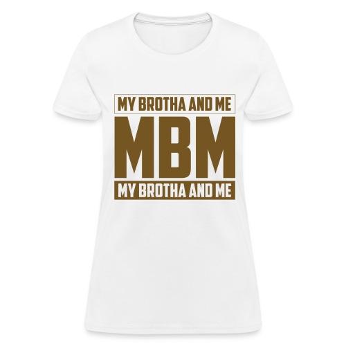 MBM in gold glitter - Women's T-Shirt