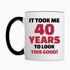 40 Years Birthday Bottles & Mugs