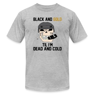 Black and Gold Hockey - Men's T-Shirt by American Apparel