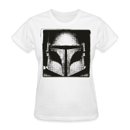 T-Shirts ~ Women's T-Shirt ~ Boba Fett Black and White Women