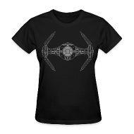 Women's T-Shirts ~ Women's T-Shirt ~ SKYF-01-019 TIE Fighter Star Wars Women