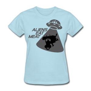 SKYF-01-060-alien eats meat Women - Women's T-Shirt