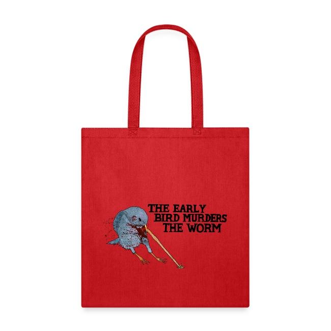 Early Bird Murders Worm - American Apparel T-shirt
