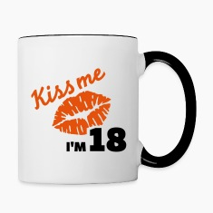 Kiss me 18 Birthday Bottles & Mugs
