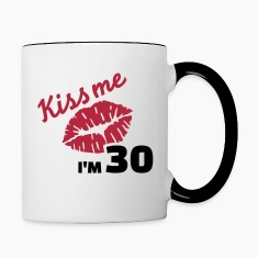 Kiss me 30 Birthday Bottles & Mugs