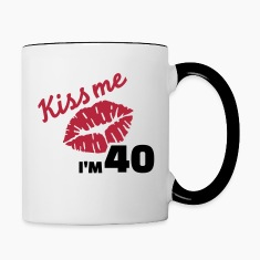 Kiss me 40 Birthday Bottles & Mugs