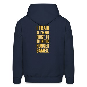 I train so I'm not first to go | Mens Hoodie - Men's Hoodie