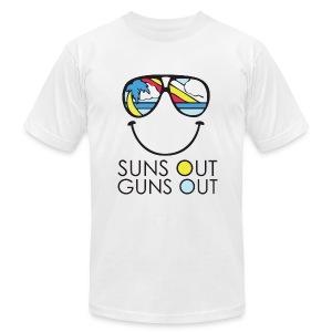 SUNS OUT GUNS OUT - Men's Fine Jersey T-Shirt