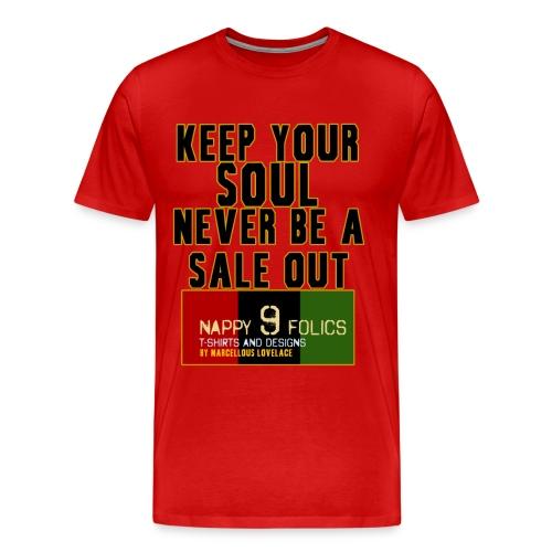 KEEP YOUR SOUL [Nappy 9 Design]  - Men's Premium T-Shirt