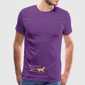 Happiness & Horse T-Shirts - Men's Premium T-Shirt