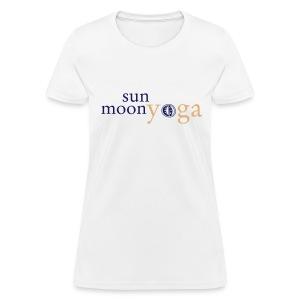 Sun Moon Two-Color Logo Short Sleeve, Women's - Women's T-Shirt