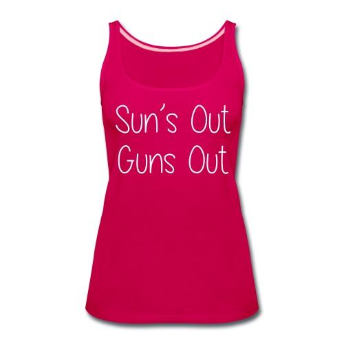 Sun's Out Gun's Out - Women's Premium Tank Top