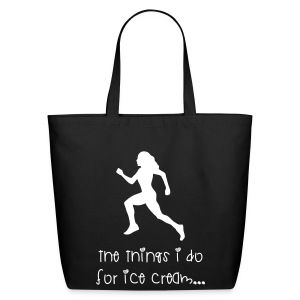 The things I do for ice cream - Eco-Friendly Cotton Tote