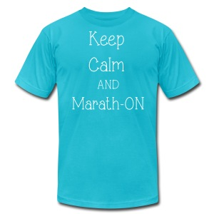 Keep Calm and Marath-ON - Men's Fine Jersey T-Shirt