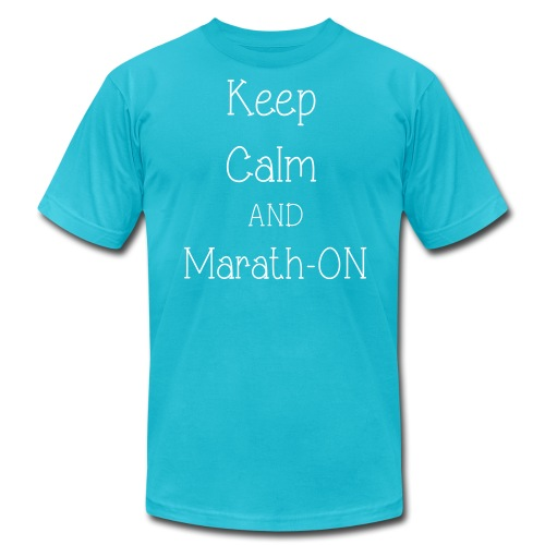 Keep Calm and Marath-ON - Men's  Jersey T-Shirt