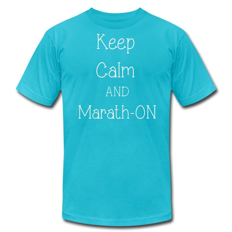 Keep Calm and Marath-ON - Men's Fine Jersey T-Shirt