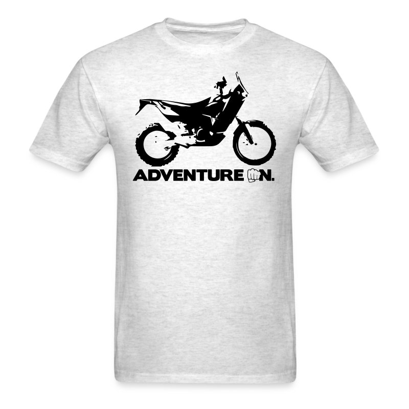Orange Adventure On - Black Logo - Men's T-Shirt