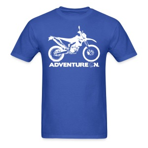 WRR Adventure On - White Logo - Men's T-Shirt